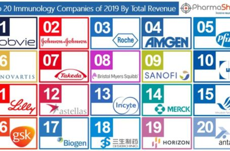 Top 20 Immunology Companies Based 2019 Immunology Segment Revenue