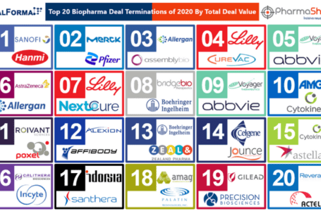 Top 20 Biopharma Deal Terminations of 2020 Based on Total Deal Value